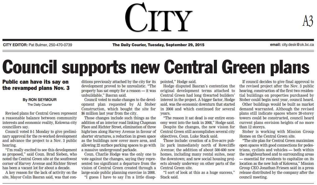Ctrl Grn Daily Courier Sep 29, 2015