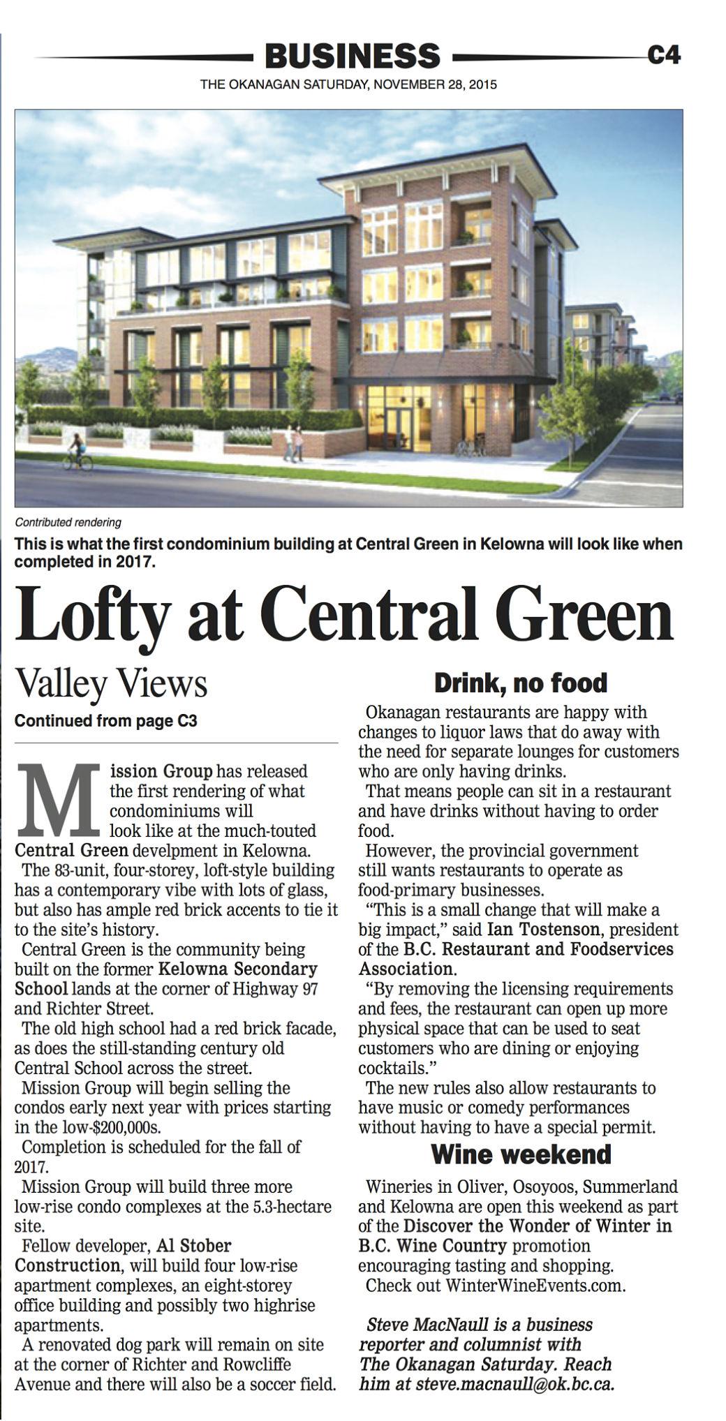 news-central-Green-Okanagan-Saturday