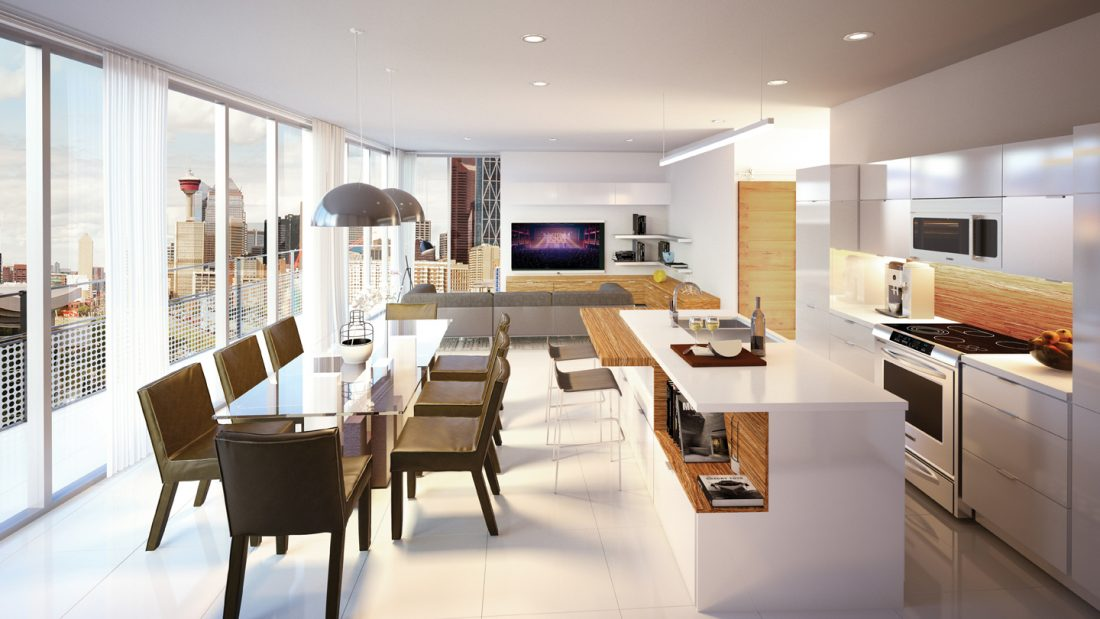Interior concept of a unit at AVLI on Atlantic