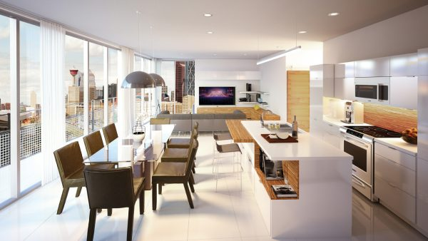 Interior concept of a unit at AVLI