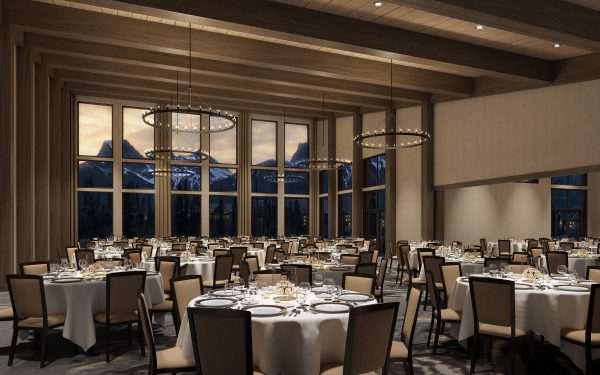 Banquet Hall rendering at the Malcolm Hotel