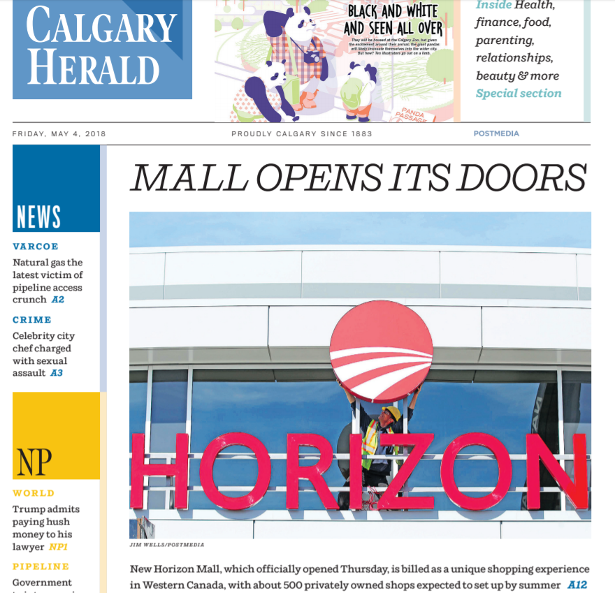 Calgary Herald New Horizon Mall